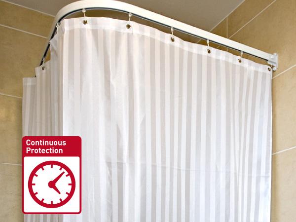 Antibacterial Shower Curtains &  Shower Curtain Rails