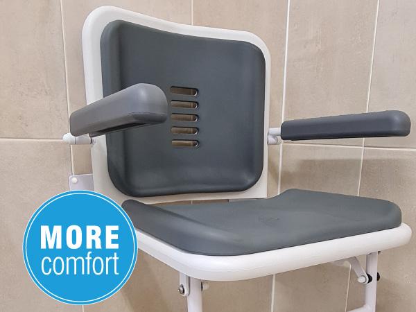 Full Length Back Shower Seat