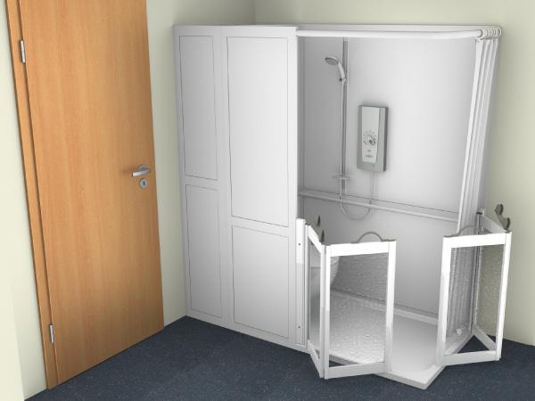Half WC Shower Cubicle 6