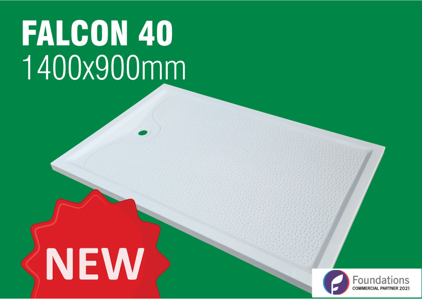 3 reasons why the new Falcon 1400x900mm shower tray is worth getting excited about!